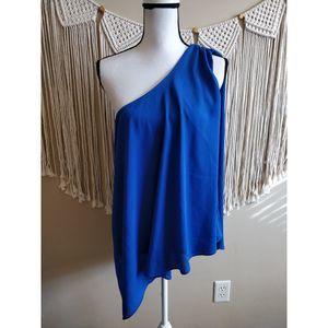 Saint Tropez West Blue Asymmetrical Dress M